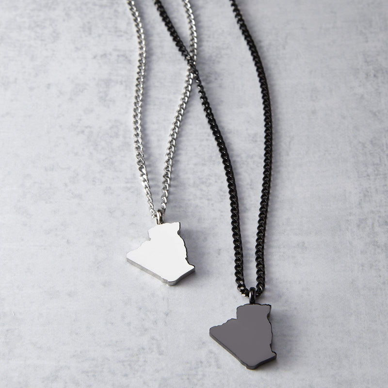Algeria Map Necklace | Men - Nominal