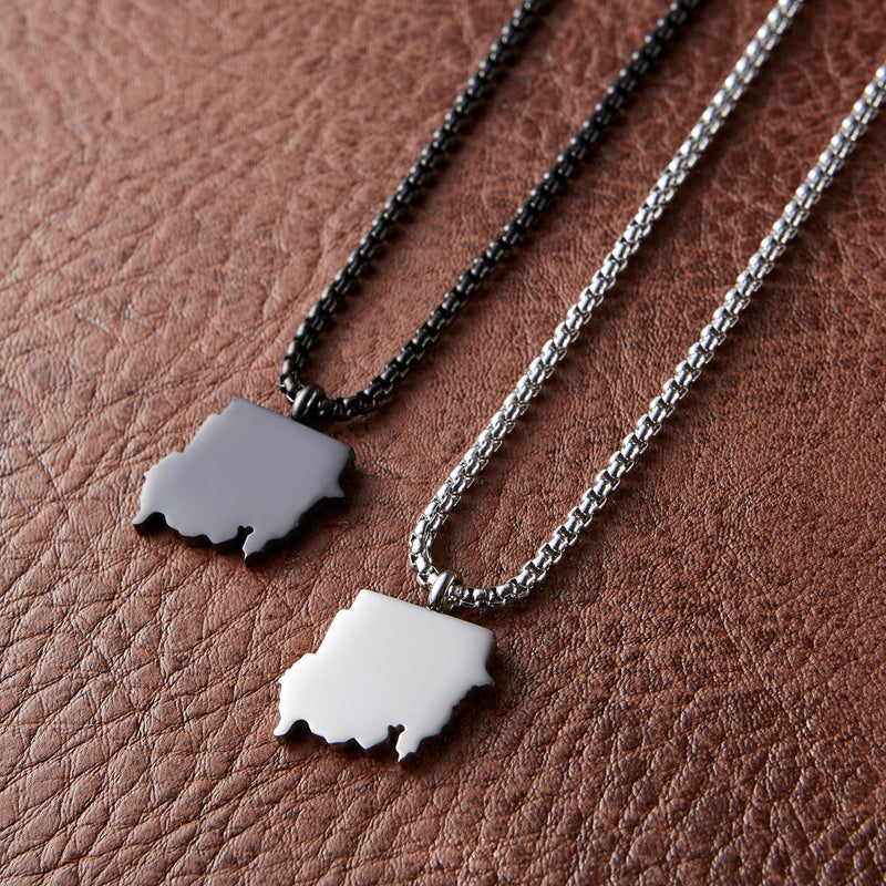 North Sudan Map Necklace | Men - Nominal