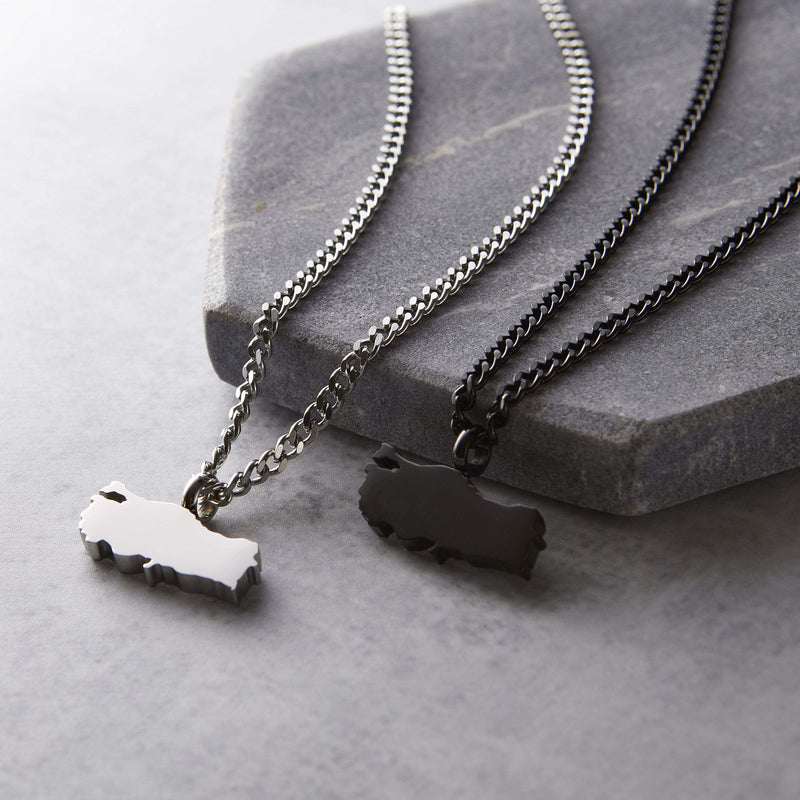 Choose Your Hometown Map Necklace | Men