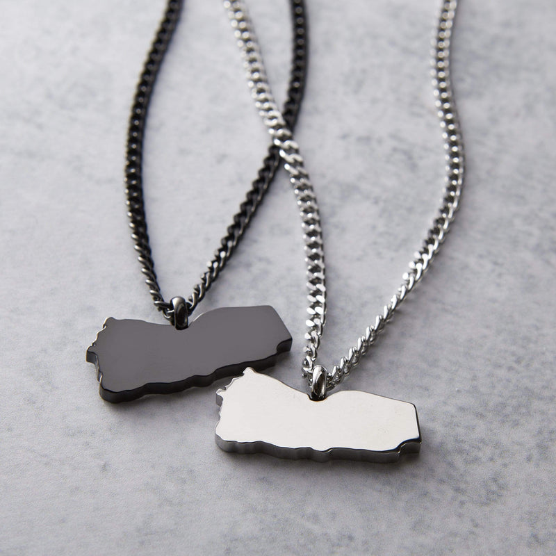 Choose Your Hometown Map Necklace | Men - Nominal