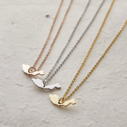 Malaysia Map Necklace | Women - Nominal