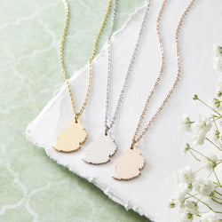 Mauritius Map Necklace | Women - Nominal