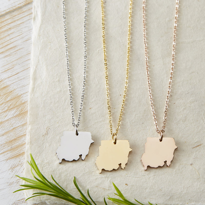 North Sudan Map Necklace | Women - Nominal