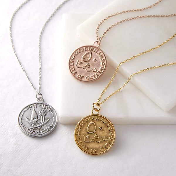 Qatar Coin Necklace | Women - Nominal