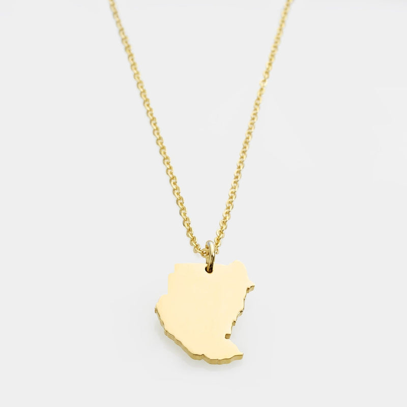 Sudan Map Necklace | Women - Nominal