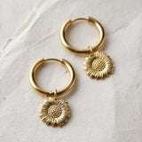 Sunflower Mini-Hoop Earrings - Nominal