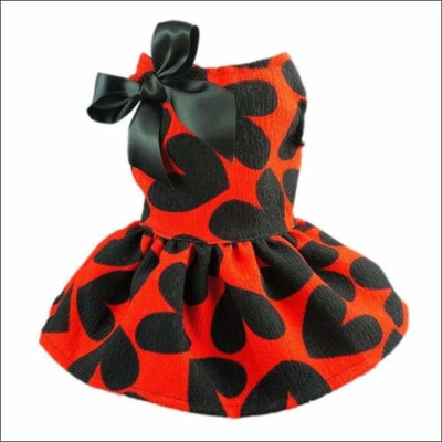 Adorable Sweat Heart Ribbon Pet Dog Dress - Diddo Furry Tails Pet Store