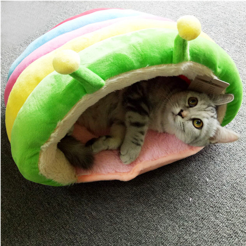 Rainbow Nest Warm Cat House Bed - Diddo Furry Tails Pet Store