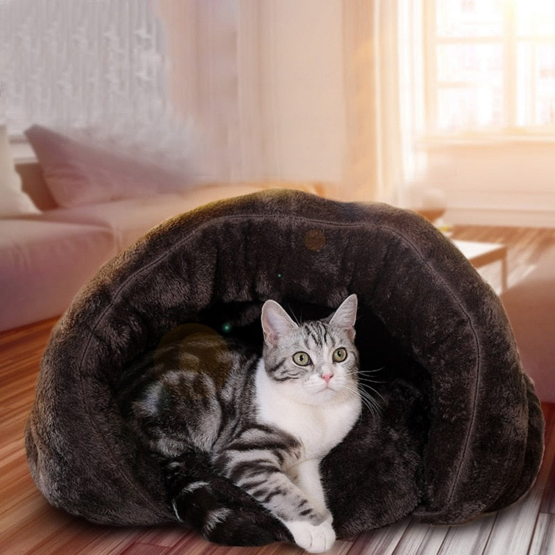 Warm Cat Sleeping Bag Bed - Diddo Furry Tails Pet Store