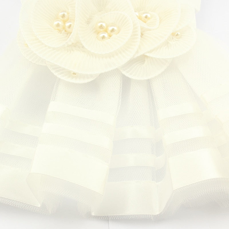 Pearl Flower Adornment Wedding Dresses For Dogs - Diddo Furry Tails Pet Store