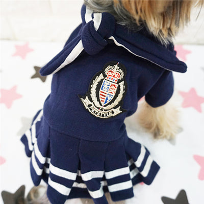Embroidery Girls School Uniforms Dog Dresses - Diddo Furry Tails Pet Store