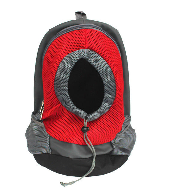 Mesh Head Out Double Shoulder Dog Carrier Backpack - Diddo Furry Tails Pet Store