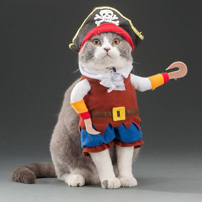 Caribbean Pirate Cats Suit - Diddo Furry Tails Pet Store
