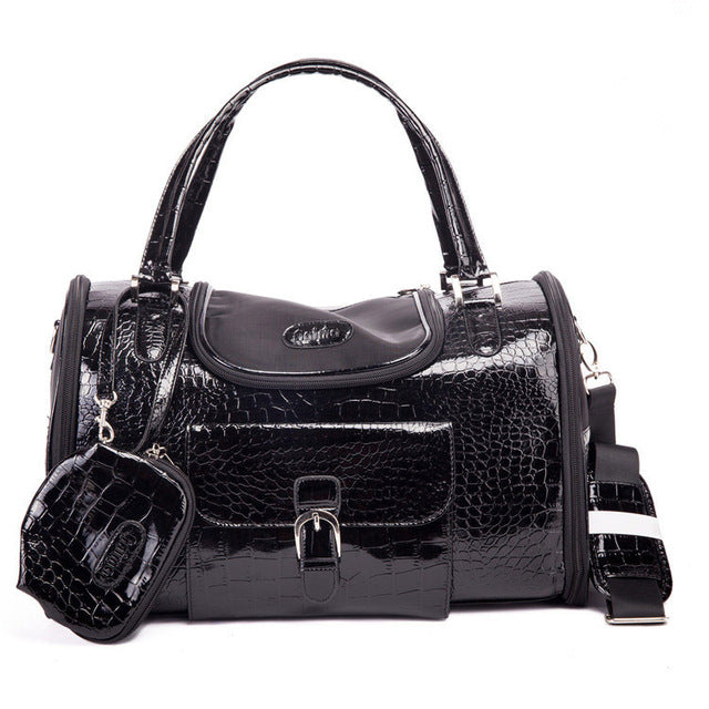 Crocodile PU Leather Dog Carrier - Diddo Furry Tails Pet Store