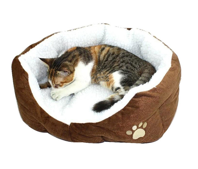 Washable Soft Warm Paw Style Cat Bed - Diddo Furry Tails Pet Store