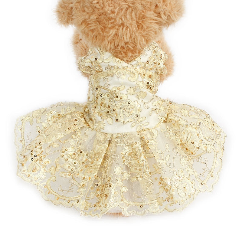 Wedding Dress For Dog - Diddo Furry Tails Pet Store