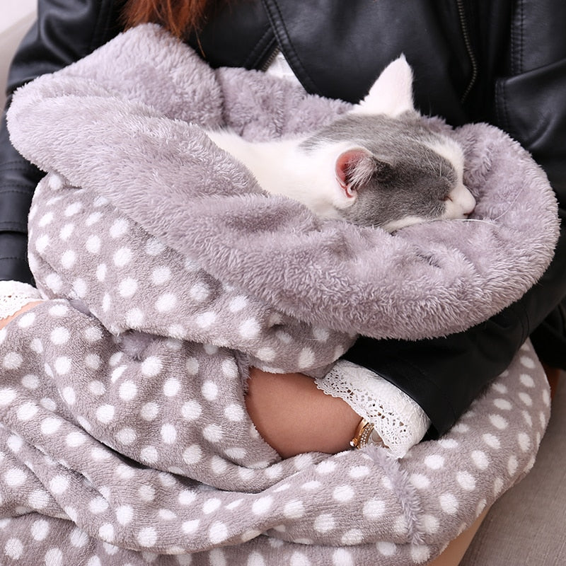 Cozy Cat Sleeping Bag - Diddo Furry Tails Pet Store