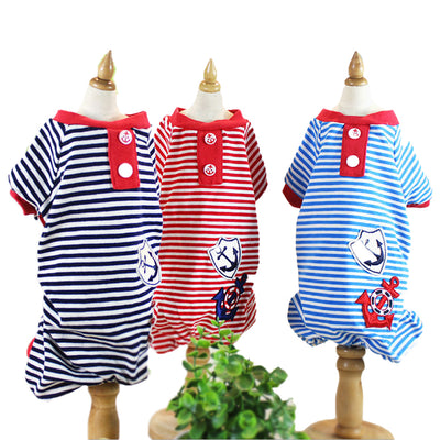 Sailor Striped Dog Jumpsuits - Diddo Furry Tails Pet Store