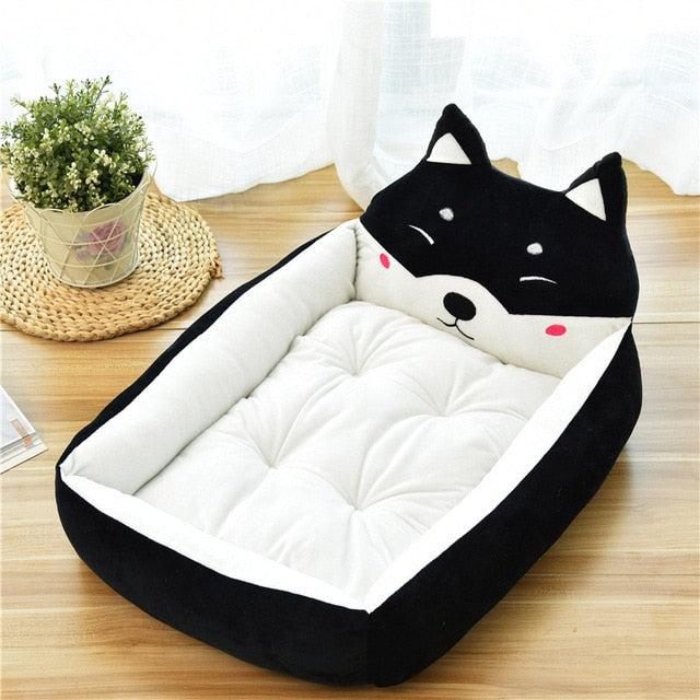 Cute Cat Cartoon Lounger Warm Bed - Diddo Furry Tails Pet Store