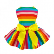Rainbow Dog Dress - Diddo Furry Tails Pet Store