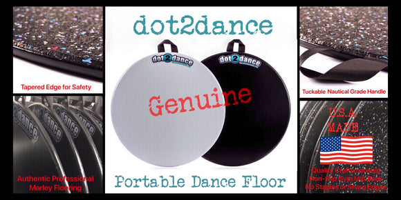 Genuine dot2dance Authentic Marley Dance Floor