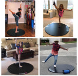 dot2dance PORTABLE DANCE FLOOR-TurnBoard, Tap Board with GENUINE Marley, DOUBLE-SIDED with GYM MAT Back, 4 Sizes with 2 Colors - Dazzled-distributors