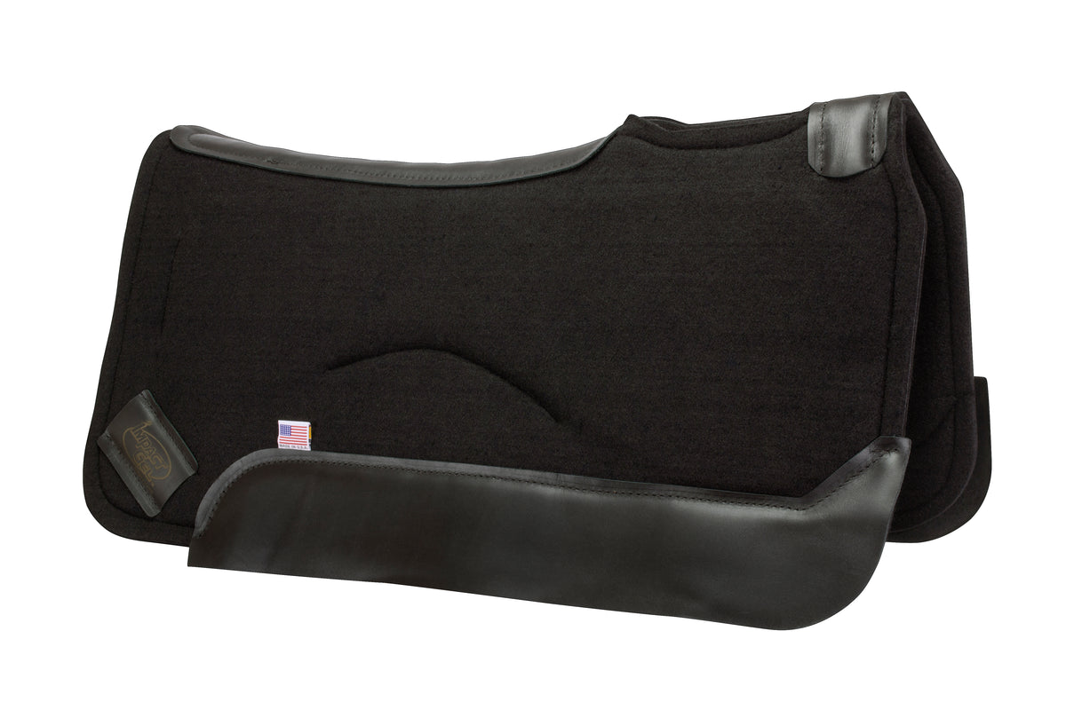Contour Classic Saddle Pad-Black Wear Leather