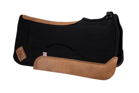 Wither Relief Saddle Pad- black with brown leather