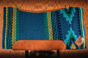 Teal Firecracker Woven Saddle Pad