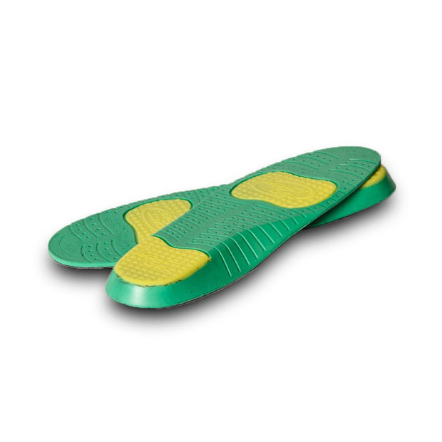 World's Greatest Insole- green and yellow bottom