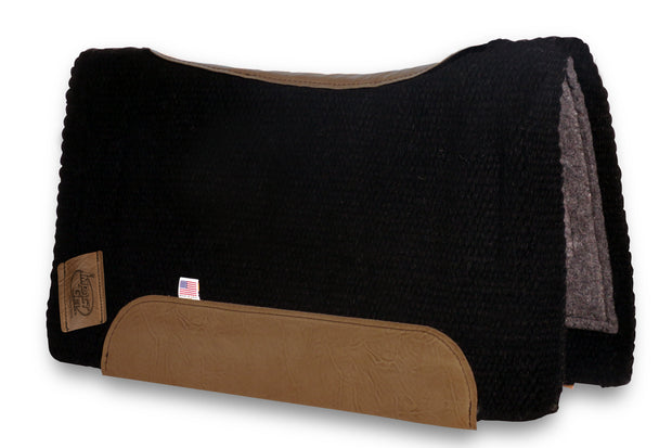 Contour San Juan Solid Black Woven Saddle Pad