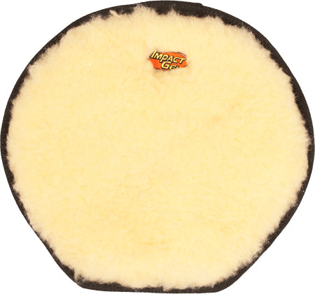 Mile Buster Motorcycle Seat Cushion- cream colored fleece with Impact Gel logo