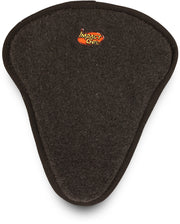 Mile Buster Motorcycle Seat Cushion- black fleece top with Impact Gel logo