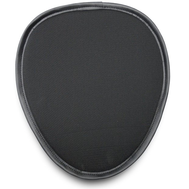 Mile Buster Motorcycle Seat Cushion- black, egg shaped, and mesh covered