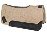 Contour tan saddle pad with black leather