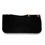 Underlayment Saddle Pad- black with brown leather