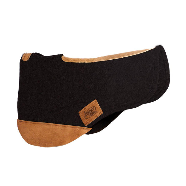 Trail Endurance Saddle Pad- black with brown leather