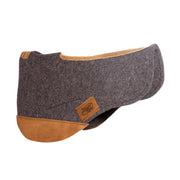 Trail Endurance Saddle Pad- gray with brown leather