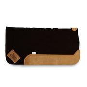 Black Straightback Saddle Pad with brown leather