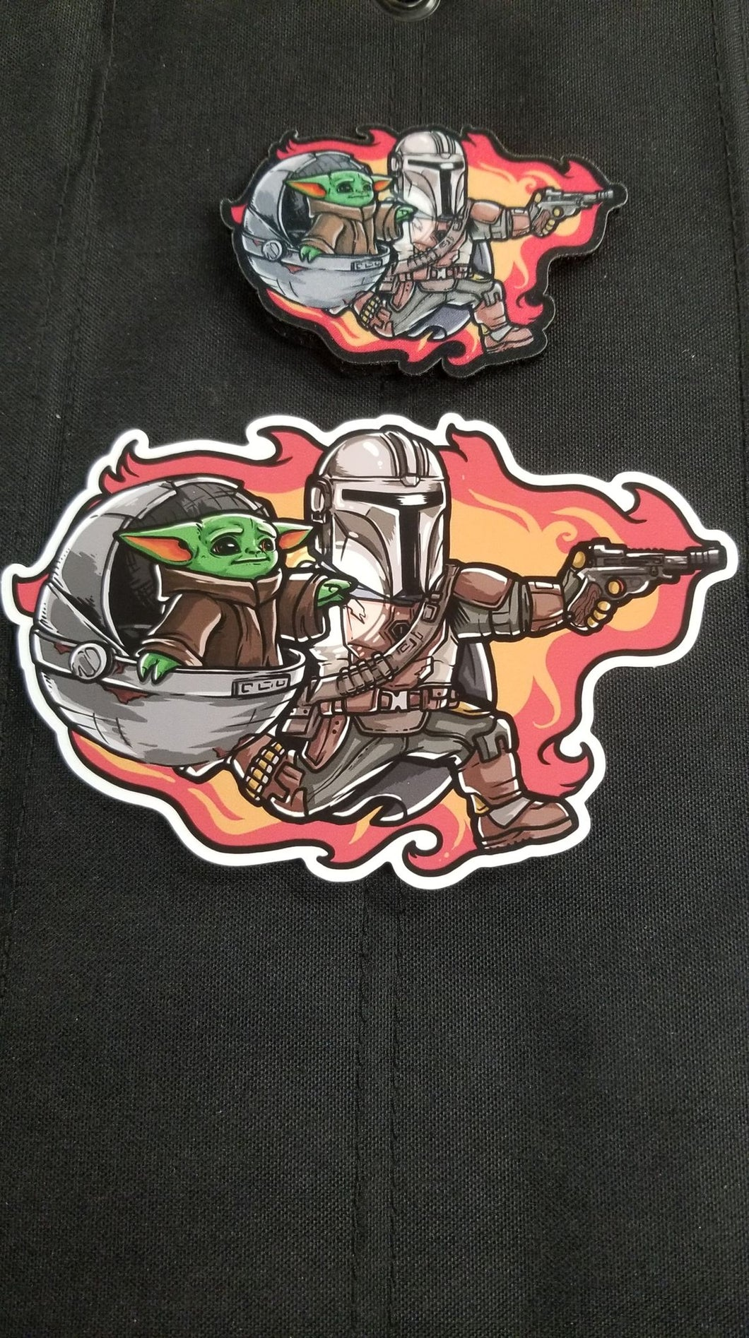 Daddylorian Jumbo Sticker and Patch Combo