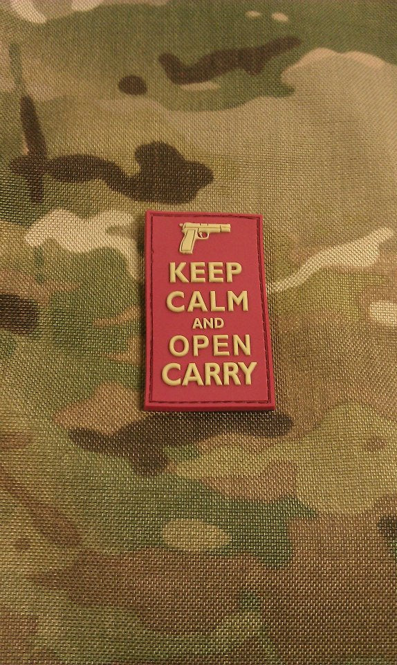 Keep Calm and Open Carry Red Edition