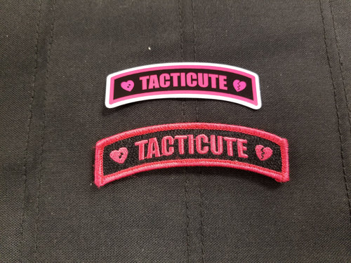 Tacticute v.3 Patch/Sticker Combo