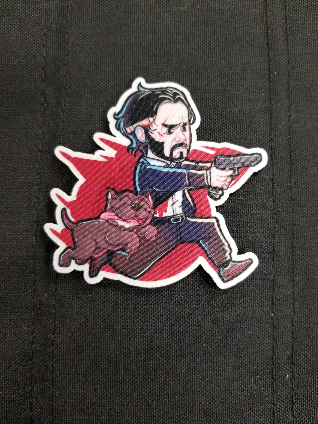 Wick and Pup Sticker