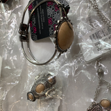 5026 Jewelry LOT 8pc Silver Tan Etc Paparazzi