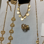5006 Jewelry LOT 7pc Gold Heart Necklace etc Paparazzi