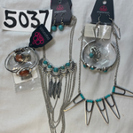 5037 Jewelry LOT 6pc Silver Turquoise Howlite Stone Paparazzi