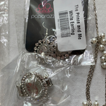 5027 Jewelry LOT 7pc Silver Pearl Bling Paparazzi