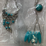 5034 Jewelry LOT 6pc Turquoise Howlite Silver Paparazzi