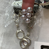 5028 Jewelry LOT 8pc Silver Pearl Bling Paparazzi