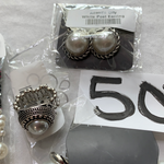 5029 Jewelry LOT 9pc Silver Pearl Paparazzi